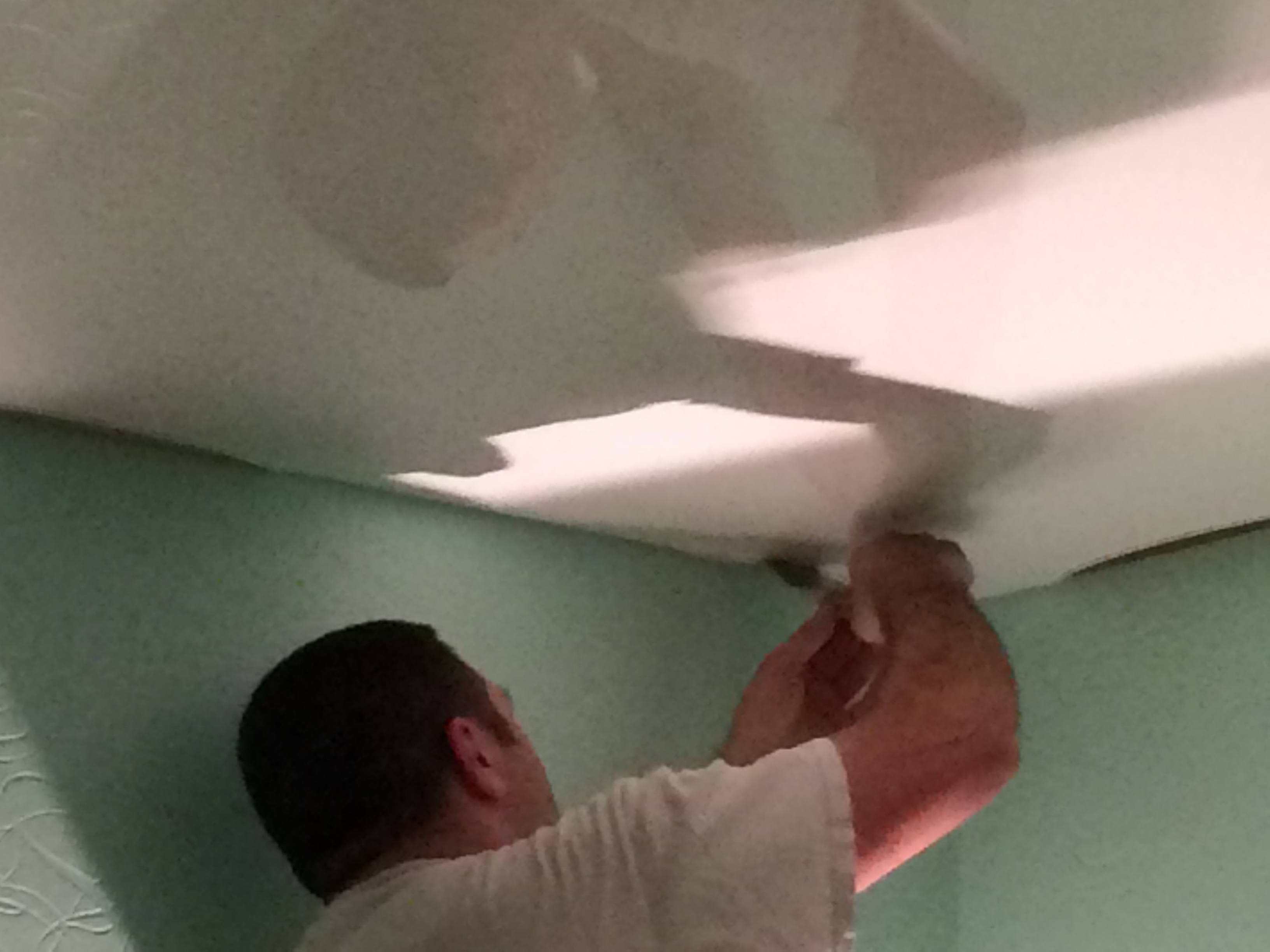 plafond tendu barrisol steve robert peinture. Black Bedroom Furniture Sets. Home Design Ideas