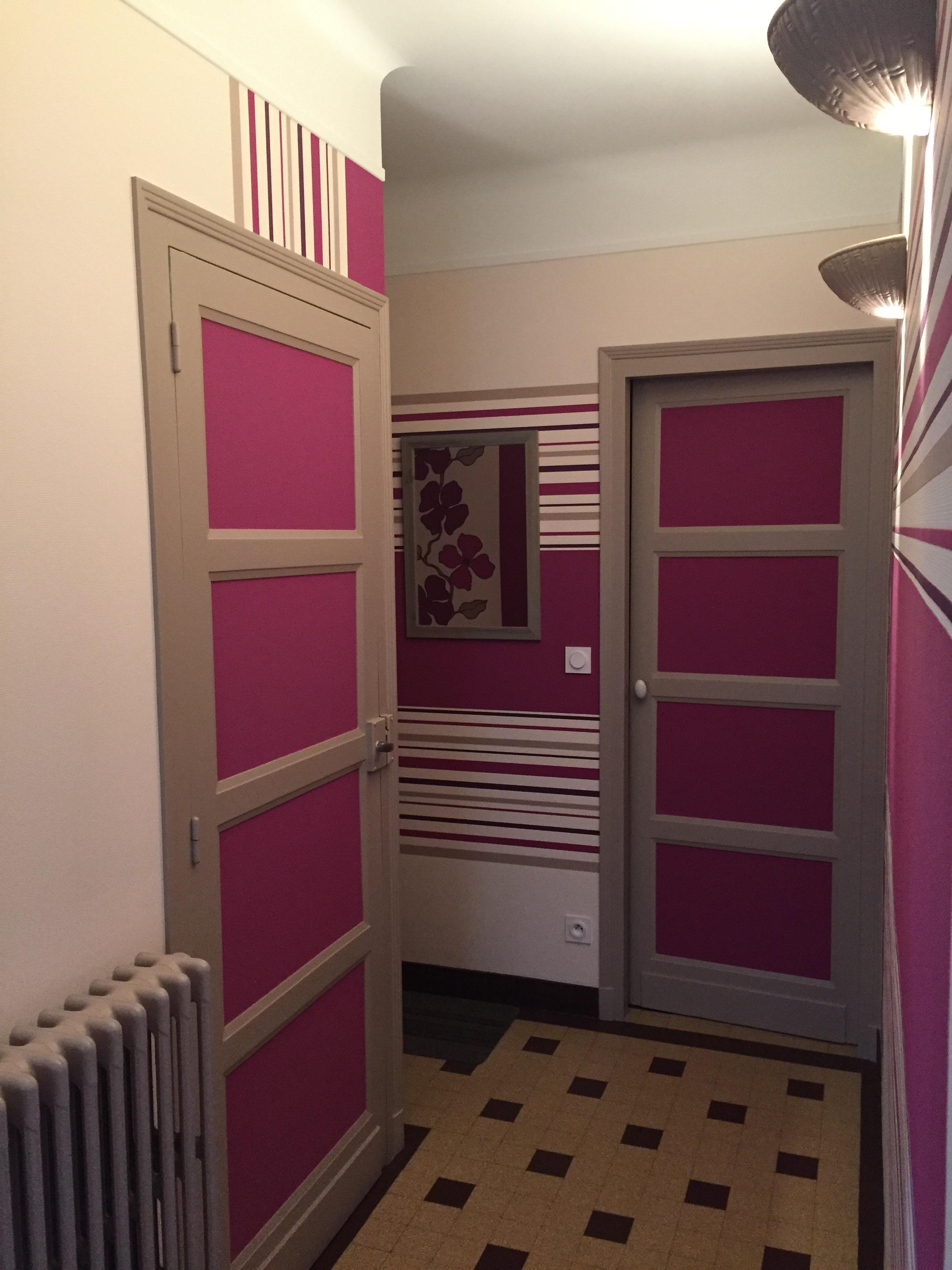 papier peint couloir steve robert peinture. Black Bedroom Furniture Sets. Home Design Ideas