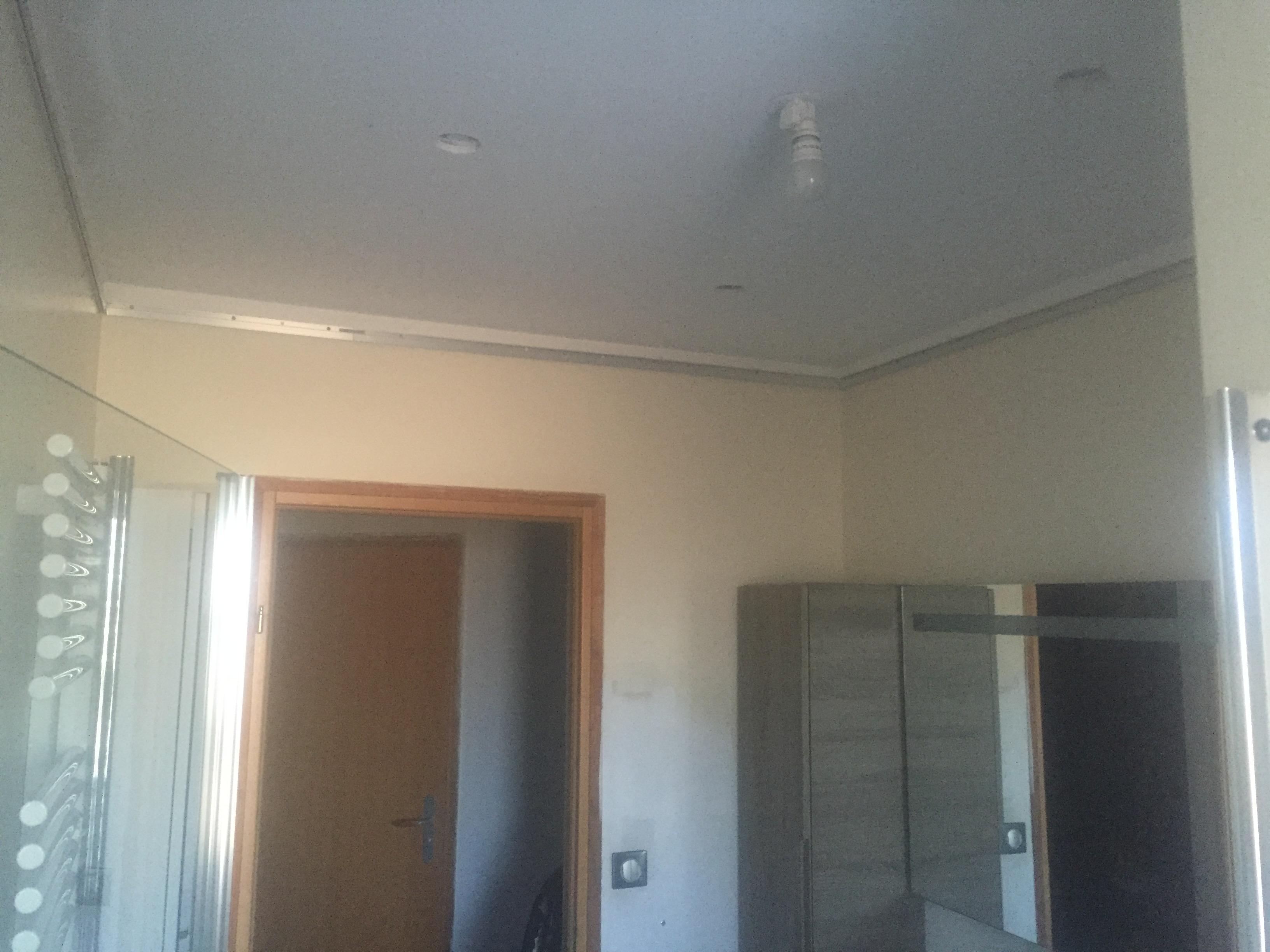 Plafond tendu laque taupe azaret steve robert peinture for Plafond toile tendu